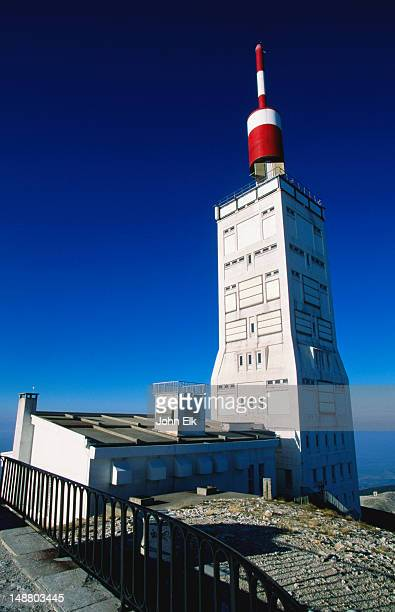 At a height of 1909 metres, Mont Ventoux makes for a great place to put an antenna and radar tower