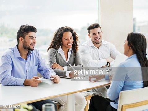 At a job interview!