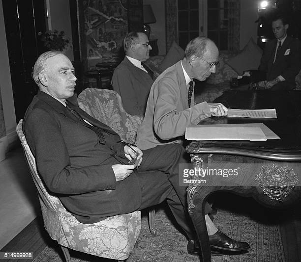 At a press conference held at the British Embassy on Sept 12th British Ambassador Lord Halifax and Lord John Maynard Keynes Economic Advisor to the...