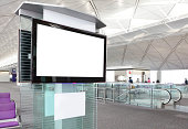 'LCD TV with empty copy space at airport shot in asia, china, hongkongModel:'