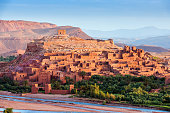 Ouarzazate on the edge of the Sahara desert in Morocco. Taken as dawn broke. Famous for it use as a set in many films such as Lawrence of Arabia, Gladiator, Jewel of the Nile, Kingdom of Heaven, Kundu