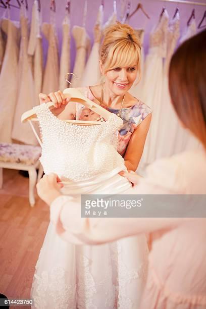 At bridal shop