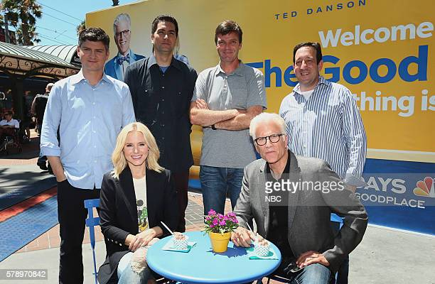 DIEGO 2016 'NBC at ComicCon' Pictured Michael Schur Creator / Executive Producer Kristen Bell Drew Goddard Executive Producer Morgan Sackett...