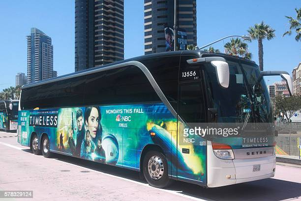 DIEGO 2016 'NBC at ComicCon' Pictured 'Timeless' Bus Wrap