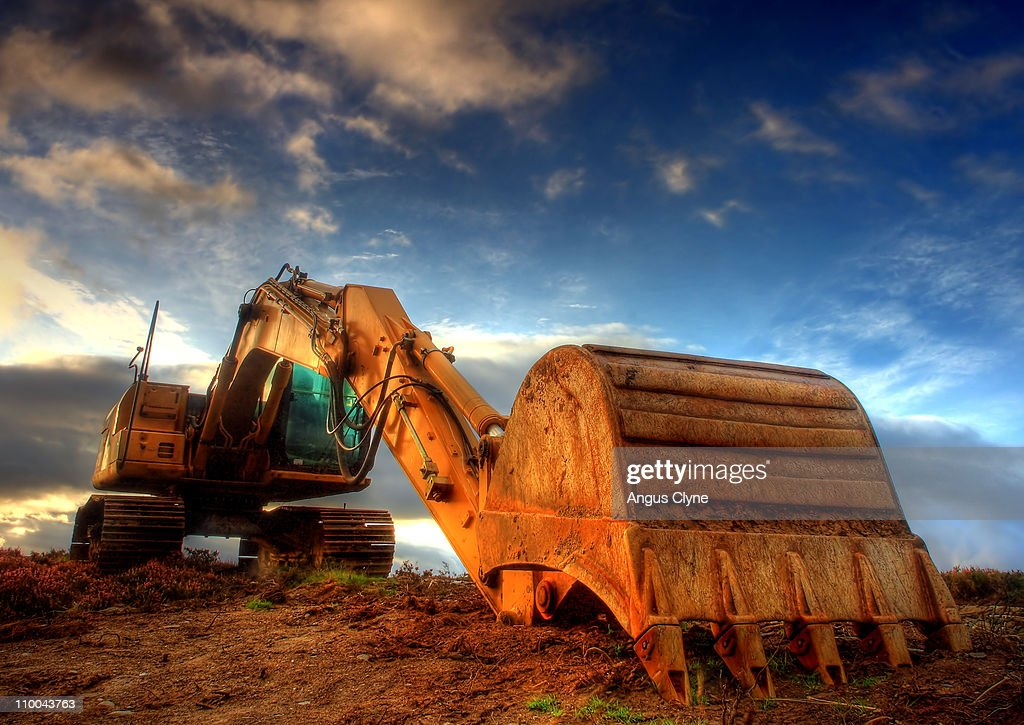 JCB at Dawn : Stock Photo