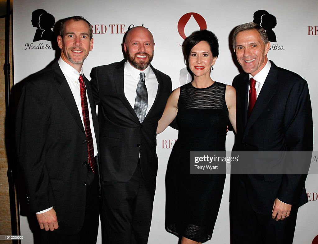 CFO at DEMDACO Bryan Paris, VP Product Development at DEMDACO Peter Friedmann, Founder and CEO at Noodle & Boo Christine Burger, and CEO at DEMDACO David Kiersznowski attend the Red Tie Gala Hosted by Blood:Water Mission and sponsored by Noodle & Boo at Hutton Hotel on November 21, 2013 in Nashville, Tennessee.