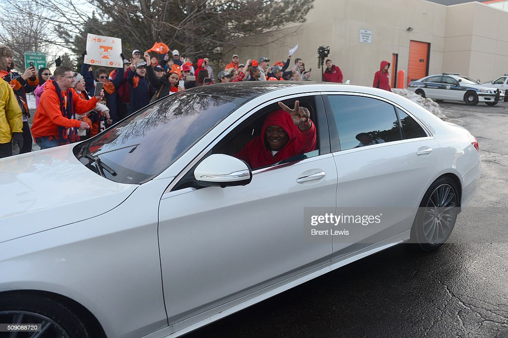 at Dove Valley on February 8, 2016 in Centennial, Colorado. Fans cheered for the Denver Broncos when they returned home after defeating the Carolina Panthers to win Super Bowl 50.