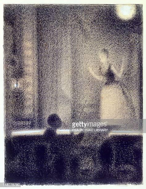 At GaiteRochechouart 18871888 by Georges Seurat 31x24 cm Cambridge Harvard University Museums Fogg Art Museum