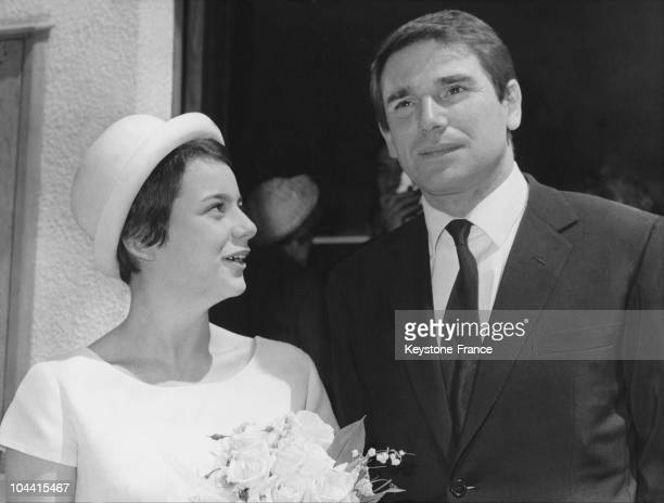 At Gambais Robert HOSSEIN marrying to Caroline ELIACHEFF daughter of Francoise GIROUD aged of 16 years old