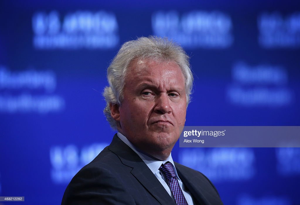 CEO at General Electric Jeff Immelt participates in a session of the U.S.-Africa Business Forum on 'Expanding Opportunities: The New Era For Business In Africa,' during the U.S.-Africa Leaders Summit at the Mandarin Oriental Hotel August 5, 2014 in Washington, DC. The three-day-long summit is to strengthen ties between the United States and African nations.