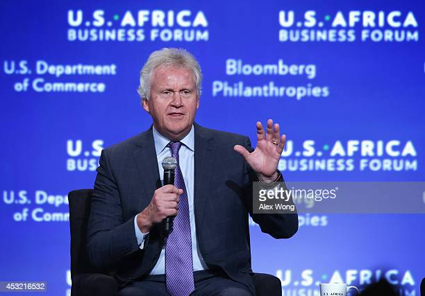 CEO at General Electric Jeff Immelt participates in a session of the USAfrica Business Forum on 'Expanding Opportunities The New Era For Business In...