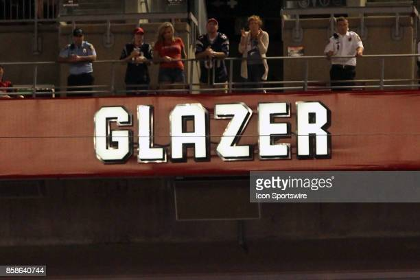 At half time deceased owner of the Tampa Bay Buccaneers Malcolm Glazer has his name placed within the Buccaneers Ring of Honor at halftime during the...