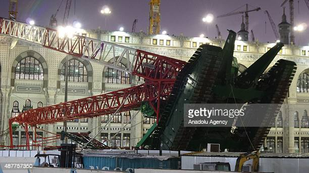 At least 52 worshippers are killed and others injured when storms caused a crane to fall in Mecca's Grand Mosque on Friday September 11 2015 Millions...