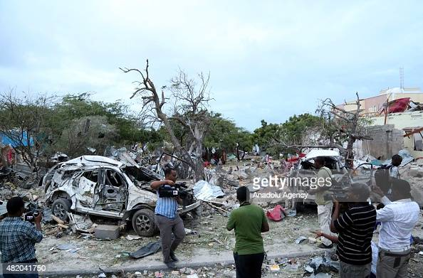 At least five people were killed on Sunday when Somalia's al Shabaab Islamist militant group drove a car packed with explosives at the gate of the...