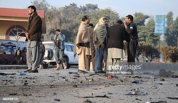 At least two police died and 6 others injured in two different bombing attacks on police vehicles in Nangarhar Afghanistan on December 17 2014