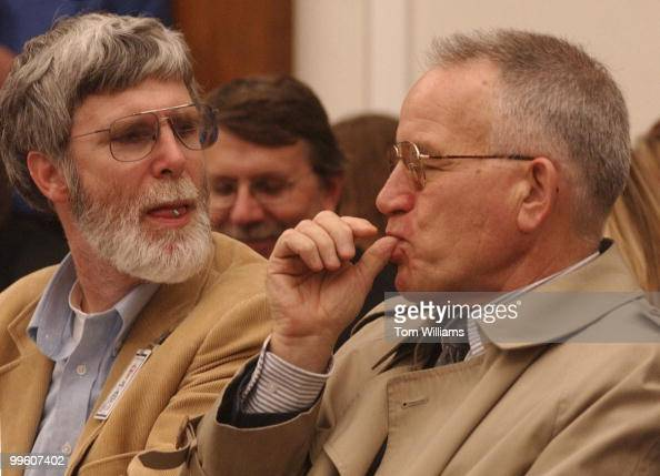 At left Dr John Darnell and Howard Shaffer both from the Energy Sub Committee of the House Science Committee taste test chocolate products at 'The...