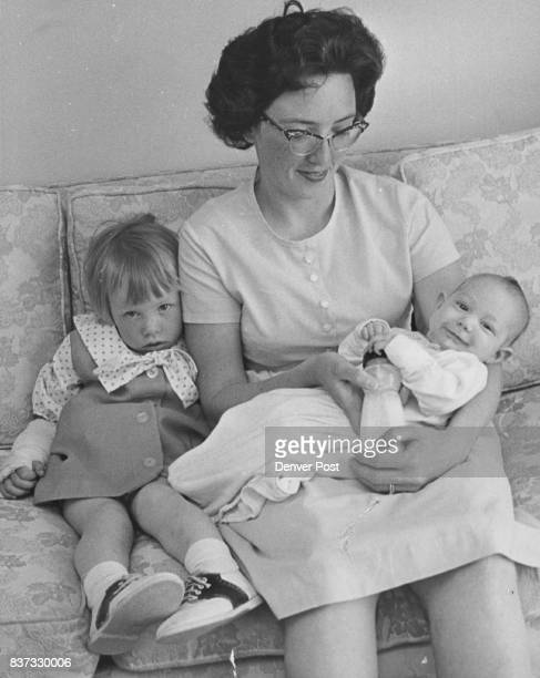 RECTOR AND CHILDREN At left is Leanne 2 the baby is Lavon 3 months Credit Denver Post