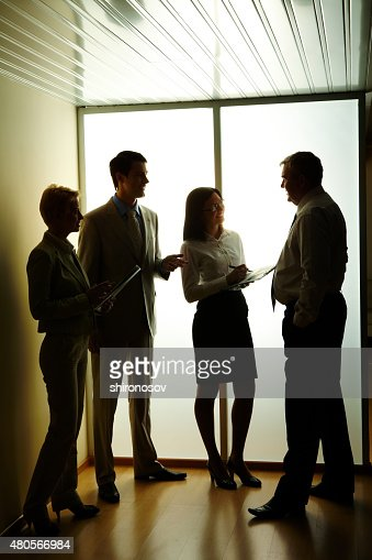 At meeting : Stock Photo