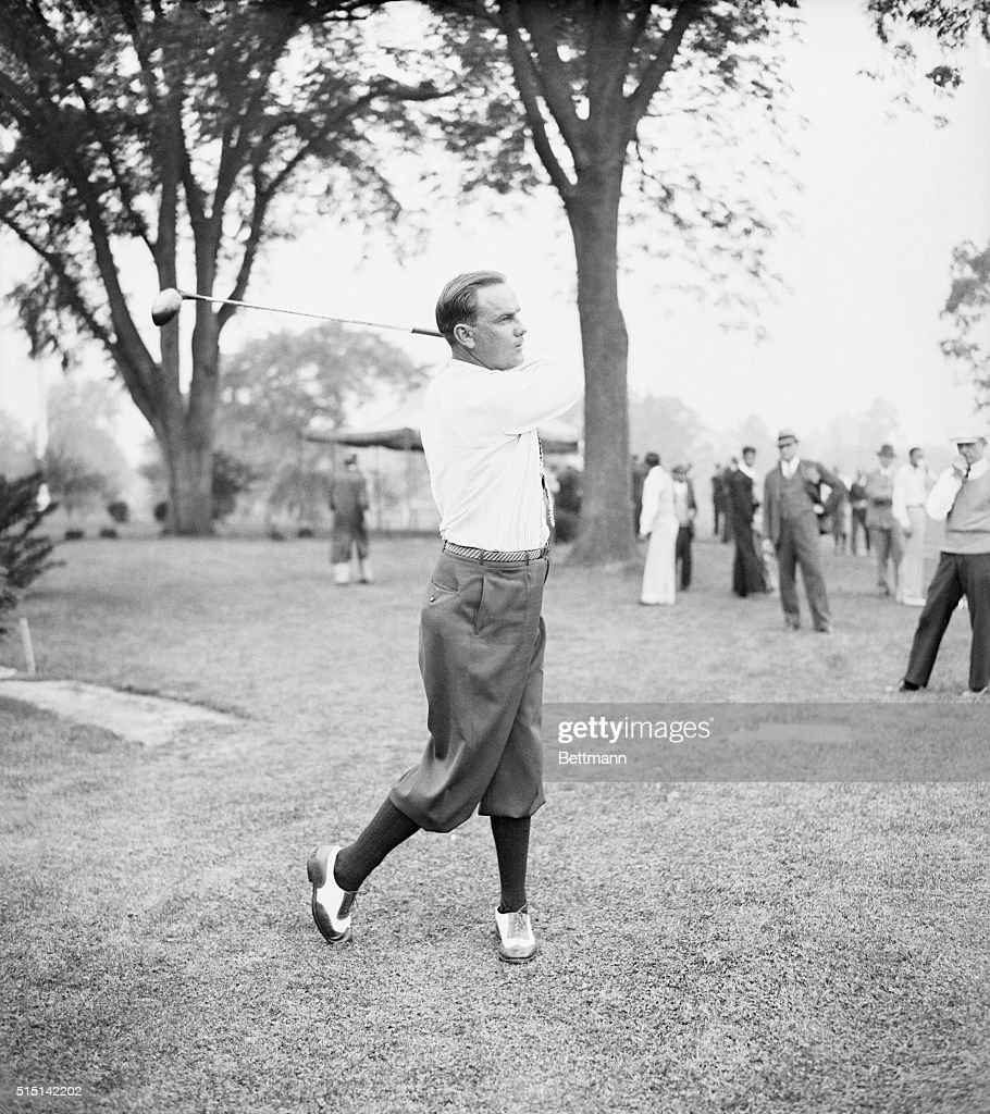 At Metropolitan Open Billy Burke 1931 Open Golf Champion shown at the Winged Foot Golf Club at Mamaroneck NY during the first round of the...