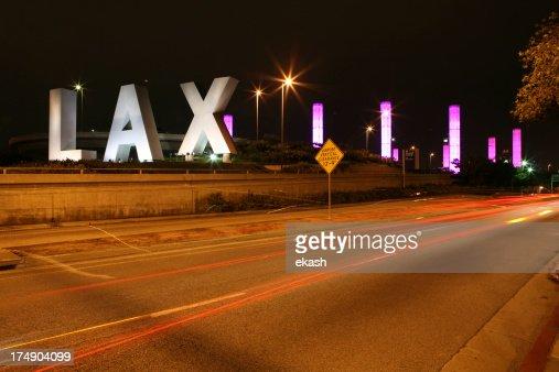 LAX at Night : Stock Photo