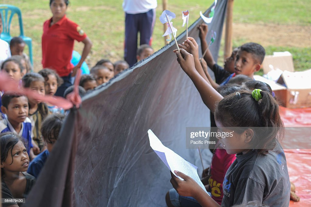 At one of Indonesia's oldest catholic schools students create a puppet show Each year the student numbers are reduce because of insufficient funds...