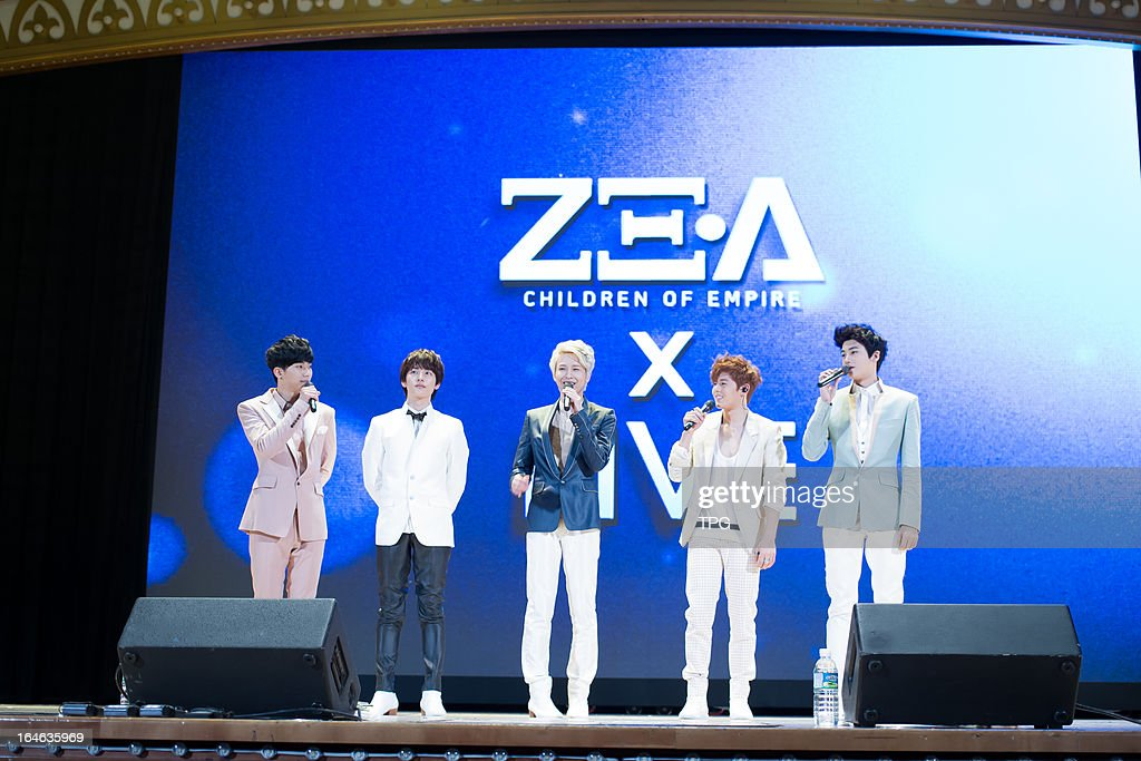 FIVE at press conference of their upcoming showcase on Sunday March 24, 2013 in Seoul, Korea.