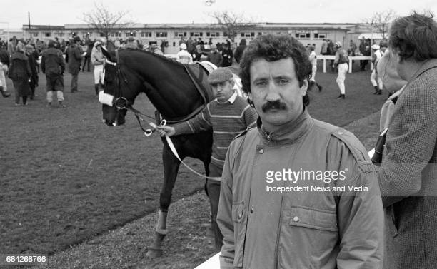 At Punchestown Racecourse Irish National Hunt Festival Ireland Footballer Gerry Ryan at Punchestown Dublin circa April 1986