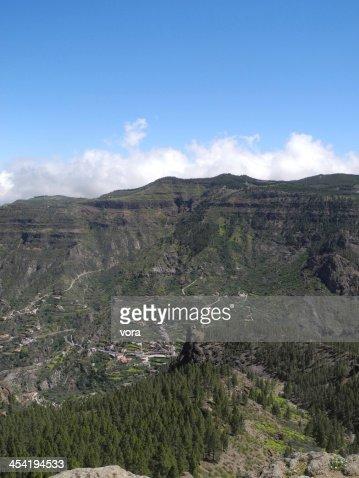 En Roque Nublo, Gran Canaria : Foto de stock