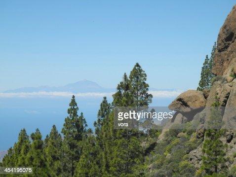 Roque Nublo, em Gran Canaria : Foto de stock