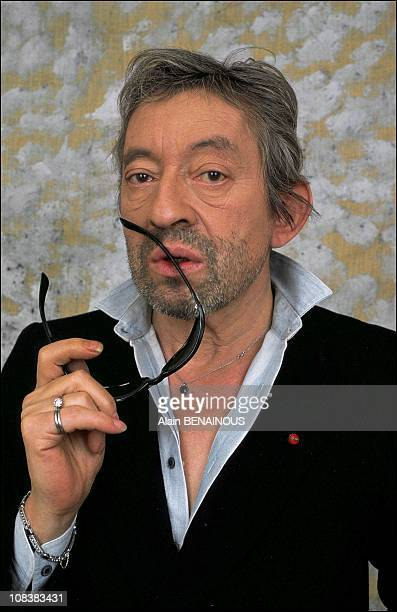 at Serge Gainsbourg's studio in France on March 21 1989