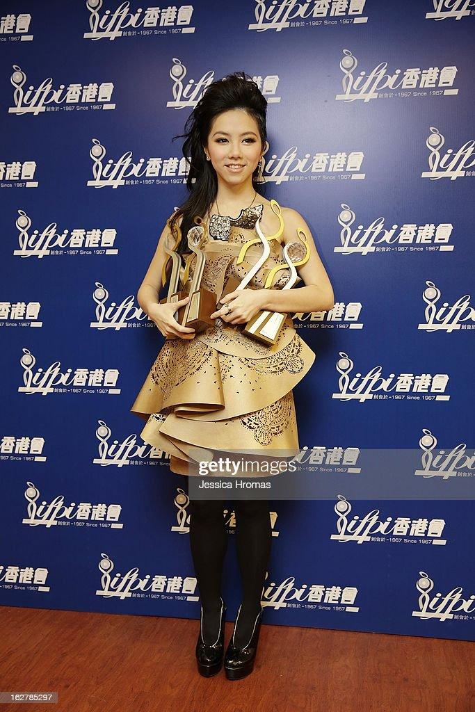 M at the 2013 IFPI Hong Kong Top Sales Music Awards at Star Hall on February 26, 2013 in Hong Kong, Hong Kong.