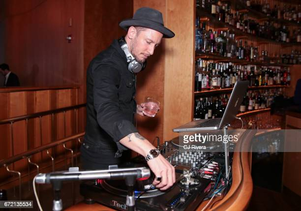 DJ at the 2017 Tribeca Film Festival 'Rainbow Crow' premier party at the Top of the Standard on April 23 2017 in New York City