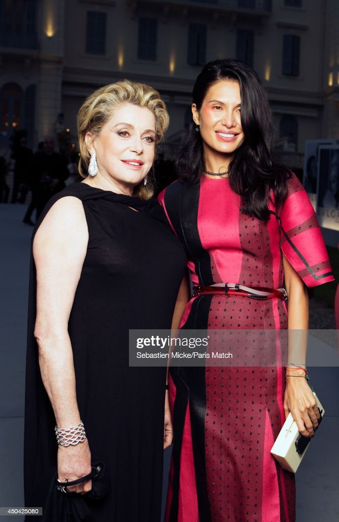 at the 21th Gala of AmFar Cinema Aganist AIDS, Catherine Deneuve and Goga Ashkenazi are photographed for Paris Match in Cap d'Antibes at the Hotel Cap-Eden-Roc on May 22, 2014;