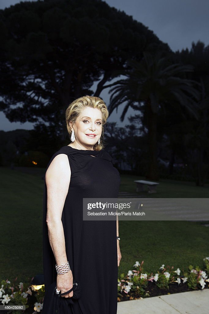 at the 21th Gala of AmFar Cinema Aganist AIDS, Catherine Deneuve is photographed for Paris Match in Cap d'Antibes at the Hotel Cap-Eden-Roc on May 22, 2014;