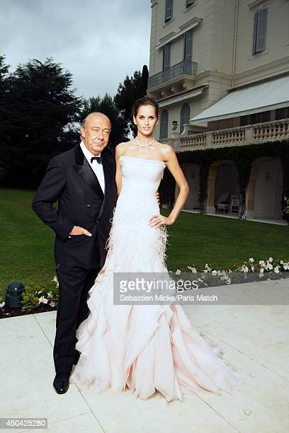 at the 21th Gala of AmFar Cinema Aganist AIDS Fawaz Gruosi and the brazilian model Izabel Goulart wearing a Emilio Pucci dress are photographed for...