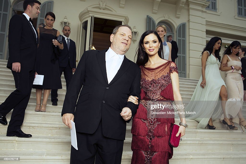 at the 21th Gala of AmFar Cinema Aganist AIDS, <a gi-track='captionPersonalityLinkClicked' href=/galleries/search?phrase=Harvey+Weinstein&family=editorial&specificpeople=201749 ng-click='$event.stopPropagation()'>Harvey Weinstein</a> and his wife <a gi-track='captionPersonalityLinkClicked' href=/galleries/search?phrase=Georgina+Chapman&family=editorial&specificpeople=583945 ng-click='$event.stopPropagation()'>Georgina Chapman</a> are photographed for Paris Match in Cap d'Antibes at the Hotel Cap-Eden-Roc on May 22, 2014;
