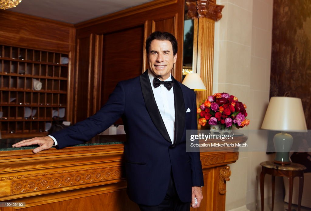 at the 21th Gala of AmFar Cinema Aganist AIDS, <a gi-track='captionPersonalityLinkClicked' href=/galleries/search?phrase=John+Travolta&family=editorial&specificpeople=178204 ng-click='$event.stopPropagation()'>John Travolta</a> is photographed for Paris Match in Cap d'Antibes at the Hotel Cap-Eden-Roc on May 22, 2014;
