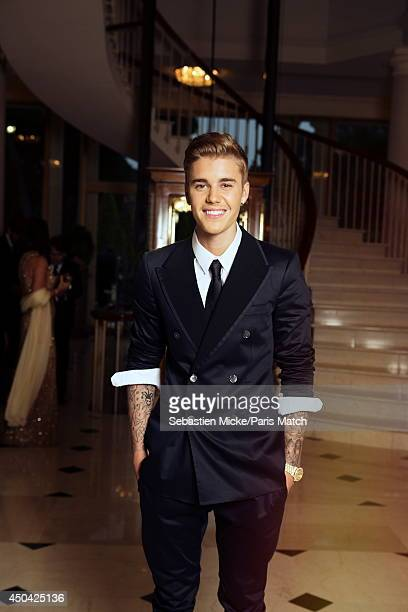 at the 21th Gala of AmFar Cinema Aganist AIDS Justin Beiber is photographed for Paris Match in Cap d'Antibes at the Hotel CapEdenRoc on May 22 2014