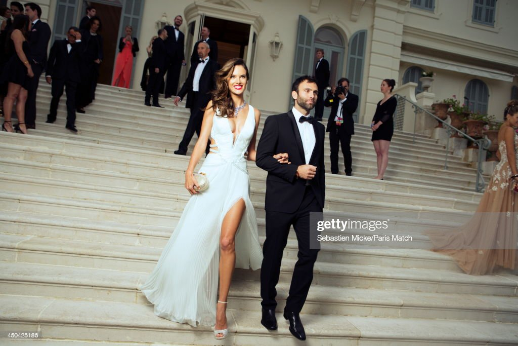 at the 21th Gala of AmFar Cinema Aganist AIDS, the brazilian model Alessandra Ambrosio is photographed for Paris Match in Cap d'Antibes at the Hotel Cap-Eden-Roc on May 22, 2014;