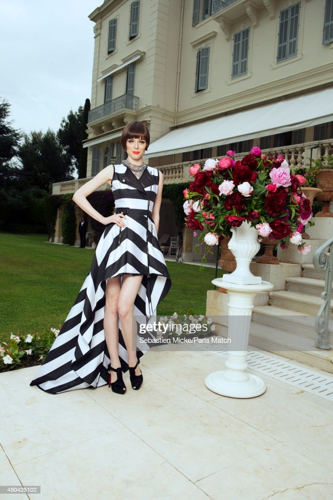 at the 21th Gala of AmFar Cinema Aganist AIDS, the canadian model Coco Rocha is photographed for Paris Match in Cap d'Antibes at the Hotel Cap-Eden-Roc on May 22, 2014;