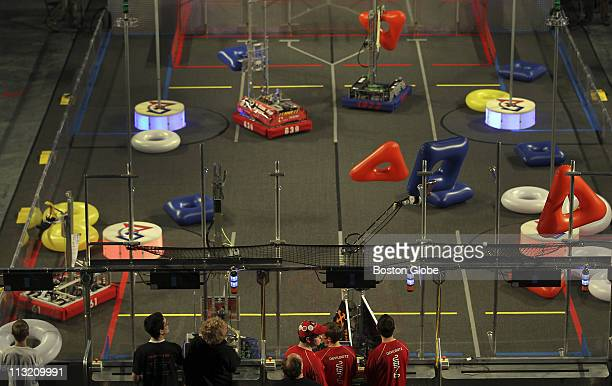 At the Agganis Arena at Boston University Boston's First Robotics Competition was held Actual competition did not begin until Friday but teams were...