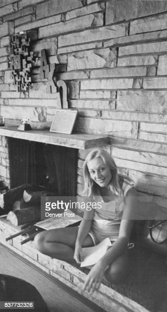 At The Alpha Chi Omega House Kay Helgesen relaxes before afternoon classes Credit Denver Post