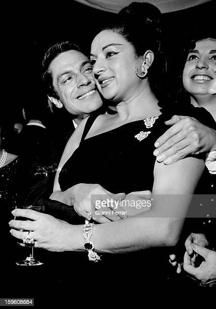 At the christening of her daughter Rosario the Spanish singer and dancer Lola with the Spanish dancer Antonio Madrid Castilla La Mancha Spain