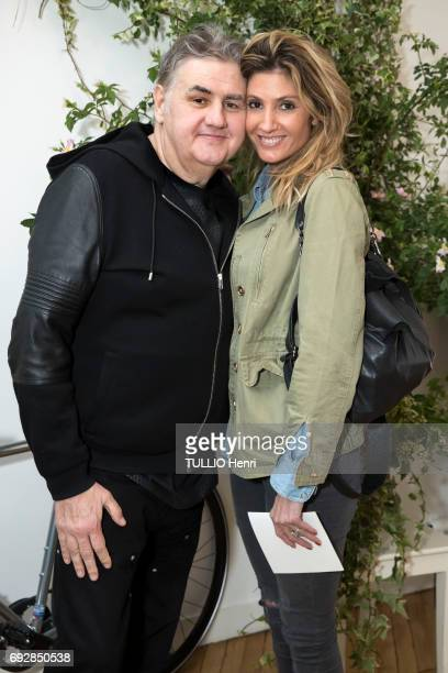 at the cocktail for the new collection Lucky Mum by Domitille du Plessis Pierre Menes and Caroline Ithurbide on may 11 2017 in Paris France