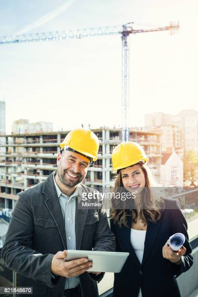 At the construction site
