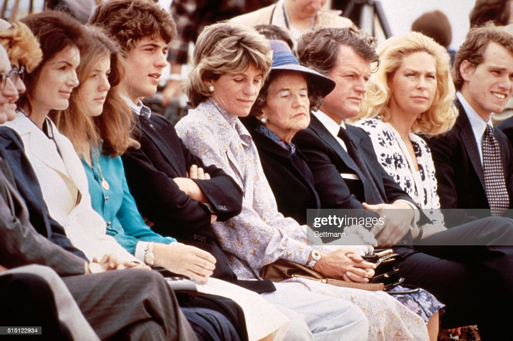 At the dedication ceremony for the John Fitzgerald Kennedy Library are Jacqueline Onassis, <a gi-track='captionPersonalityLinkClicked' href=/galleries/search?phrase=Caroline+Kennedy&family=editorial&specificpeople=93208 ng-click='$event.stopPropagation()'>Caroline Kennedy</a>, John F. Kennedy, Jr., Jean Ann Smith, Rose Kennedy, Senator Edward M. Kennedy, Joan Kennedy and Joseph P. Kennedy (l to r).