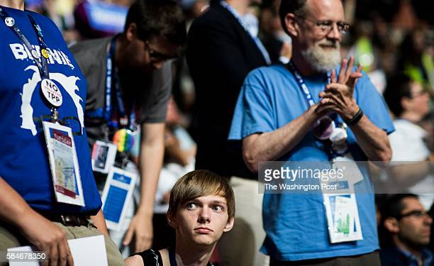 PHILADELPHIA PA At the Democratic National Convention North Carolina delegate Evan Redmond young gay American from rural North Carolina who started...