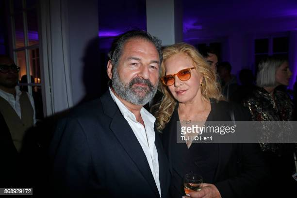at the diner for the 14th concert of Sylvie Vartan at L'Olympia Sylvie Vartan an Denis Olivennes are photographed by Paris Match on september 16 2017...