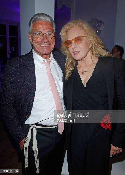 at the diner for the 14th concert of Sylvie Vartan at L'Olympia Sylvie Vartan and JeanMarie Perier are photographed by Paris Match on september 16...