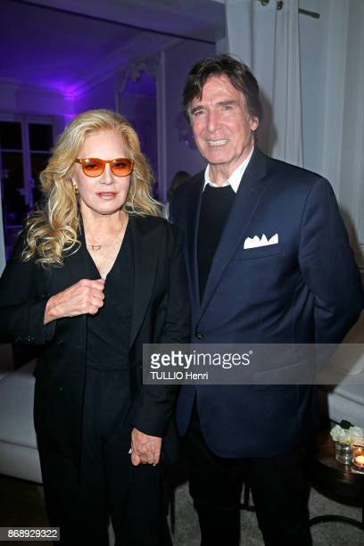 at the diner for the 14th concert of Sylvie Vartan at L'Olympia Sylvie Vartan and her husband Tony Scotti are photographed by Paris Match on...